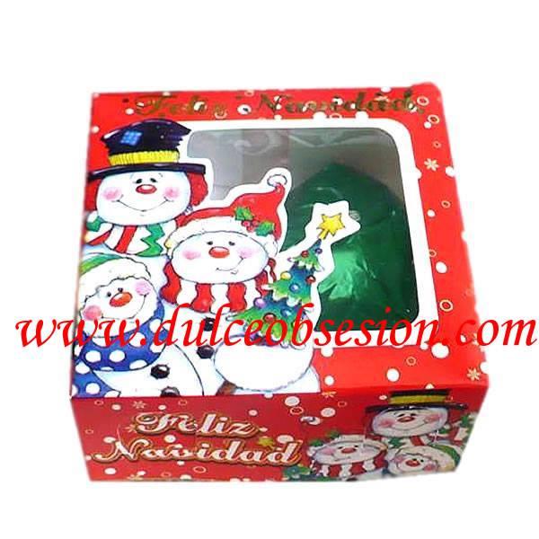 caja con chocolate para navidad
