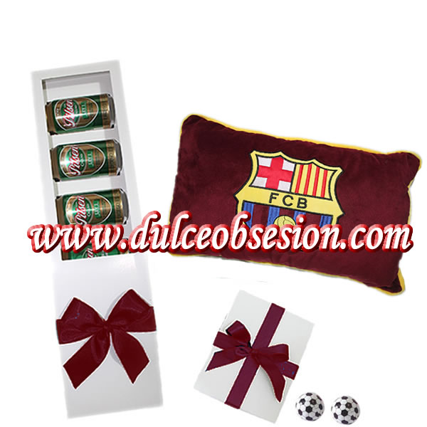 gifts for the day of the lima father, lima sports gifts, lima gifts for men, pillows for gift of club Barcelona, beer for gift, club gift Barcelona, bouquet pilsen, delivery of gifts in lima peru