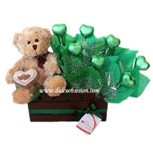 gifts for lovers in Lima, teddy and chocolates for men, gifts for them, gifts in Peru, delivery in Lima, plush toys and chocolates for potatoes, gift with plush and lime chocolate