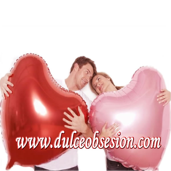 Giant balloons in lime, big heart shaped balloons, lime red metallic balloons, lime gift delivery