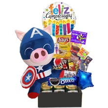 gifts for lima birthday, plush toy and candy lima, candy basket for birthday, lima gifts, plush toy super hero birthday, dulce obsesion, gifts for father's day, gifts for dad, delivery, Lima, delivery Peru, gifts for men
