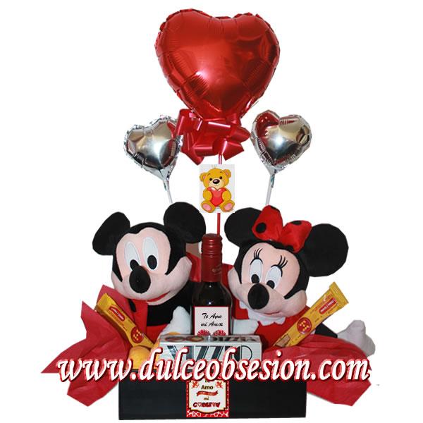 Regalos para enamorados regalos personalizados delivery de regalos canasta minnie y mickey mouse altavistaventures Choice Image