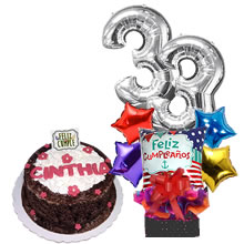 Chocolate cake in lime, delivery of lime cakes, cake delivery, gifts with cake, peru cakes, elaboration of cakes in lime, delivery of cakes for lovers, birthday cakes in Lima, arrangements with balloons, gifts with balloons, gifts for birthday, delivery of gifts in Lima Peru