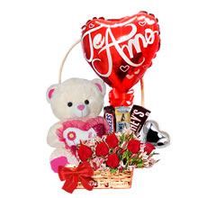gifts for lovers, gifts for Valentine's Day, delivery of floral arrangements, delivery of gifts, gifts with roses and stuffed animals, delivery of gifts at home, plush toys and flowers, gifts Lima, gifts Peru