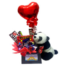 panda bear with candy for gift, birthday gifts, gift gifts for lovers, gifts for, gifts in peru, delivery in lima, baskets with candy for gift, valentine gifts