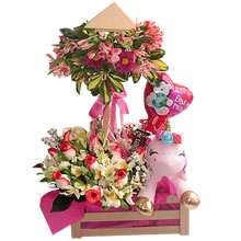 floral arrangements for delivery, floral arrangements for gift, delivery of roses, arrangement with roses and stuffed animals, unicorn plush toys with roses, floral arrangements for birthdays, gifts in Lima, Delivery gifts in Lima, roses and flowers, delivery of gifts in Lima Peru