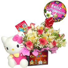 floral arrangements for gift, delivery of floral arrangements, stuffed Hello Kitty, bouquets with roses for gift, delivery of roses, delivery of roses, flowers for birthdays, gifts for birthdays, gifts Lima, gifts Peru