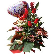 floral arrangements with roses, roses delivery, flower delivery, stuffed animals with flowers, gifts for lovers, gifts for women in Lima, gifts for them, floral arrangements for delivery, mother's day gift, delivery in Lima, flower delivery to home