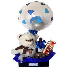 Lima birthday basket, gifts with balloons, gifts for men, gifts for Valentine's Day, gifts for Father's Day, Rosatel, Birthday gifts, Lima gifts, birthday delivery gifts, gifts for friends in Lima, gift delivery